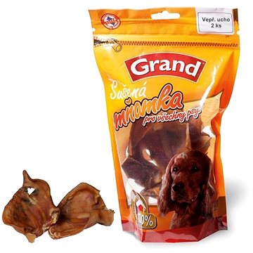 Grand Vepřové ucho sušené 2 ks, zip (8594029441750)