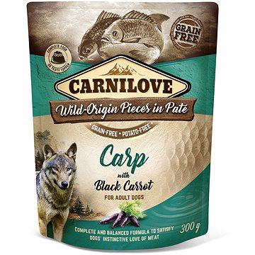Carnilove Dog Pouch Paté Carp with Black Carrot 300 g (8595602537693)