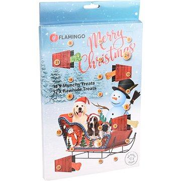 Flamingo Adventní kalendář Munchy/RAW pamlsky pro psy (5400585086386)