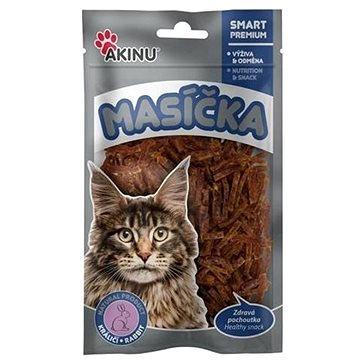 Akinu Králičí nudličky pro kočky 50 g (8595184947903)