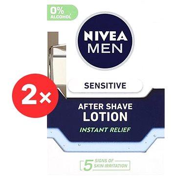 NIVEA Men Sensitive After Shave Lotion 2× 100 ml