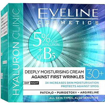 EVELINE COSMETICS Hyaluron Clinic Day And Night Cream 30+ 50 ml (5907609339942)