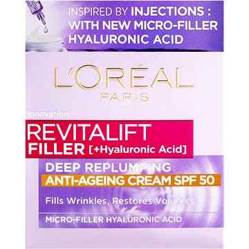 ĽORÉAL PARIS Revitalift Filler Anti-Ageing Cream SPF50 50 ml (3600523982745)