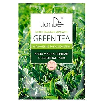 TIANDE Cream Mask Noční krémová se zeleným čajem 18 g (6925466289803)