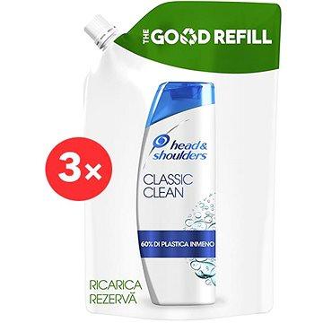 HEAD & SHOULDERS Classic Clean Šampon Proti lupům Náhradní náplň 3 × 480 ml (KSVL5052s)