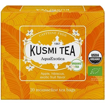 Kusmi Tea Organic AquaExotica 20 mušelínových sáčků 40g (3585810078991)