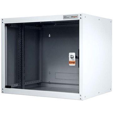 Legrand EvoLine nástěnný datový rozvaděč 9U, 600x450mm, 15kg, skleněné dveře (EVO9U6045)