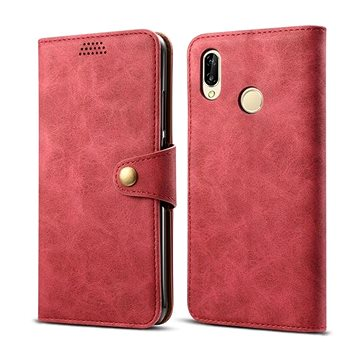 Lenuo Leather pro Huawei P30 Lite/P30 Lite New Edition, červené (470616)