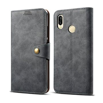Lenuo Leather pro Huawei P30 Lite/P30 Lite New Edition, šedé (470618)