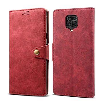 Lenuo Leather pro Xiaomi Redmi Note 9 Pro/ Note 9S, červené (470921)