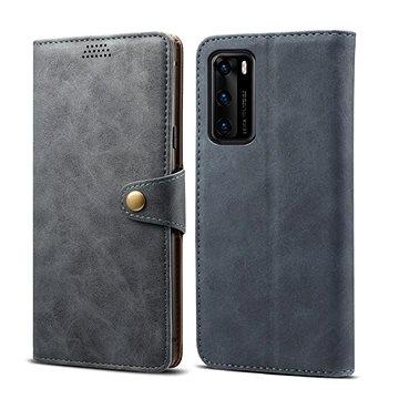 Lenuo Leather pro Huawei P40, šedé (470930)