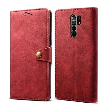 Lenuo Leather pro Xiaomi Redmi 9, červená (470956)