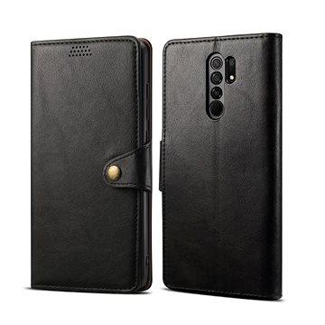 Lenuo Leather pro Xiaomi Redmi 9, černá (470957)