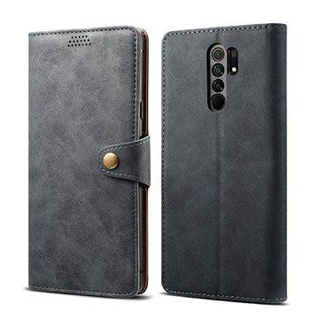 Lenuo Leather pro Xiaomi Redmi 9, šedá (470958)