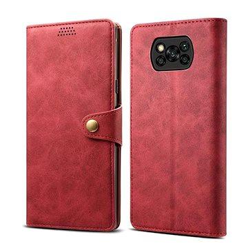 Lenuo Leather pro Xiaomi Poco X3, červená (475110)