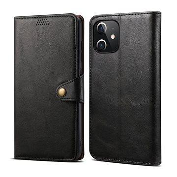 Lenuo Leather pro iPhone 12 mini, černé (476123)