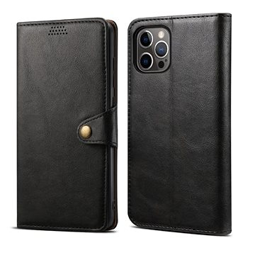 Lenuo Leather pro iPhone 12/12 Pro, černé (476125)