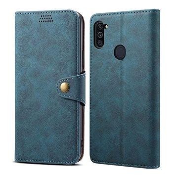 Lenuo Leather pro Samsung Galaxy M11, modré (476132)