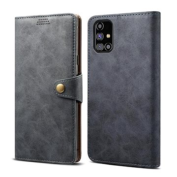 Lenuo Leather pro Samsung Galaxy M31s, šedé (476135)