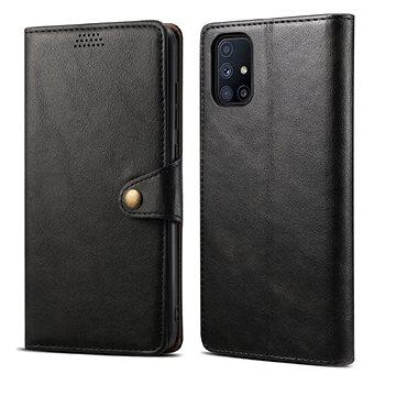 Lenuo Leather pro Samsung Galaxy M51, černé (476136)