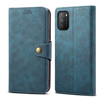 Lenuo Leather pro Xiaomi Poco M3, modré (476202)