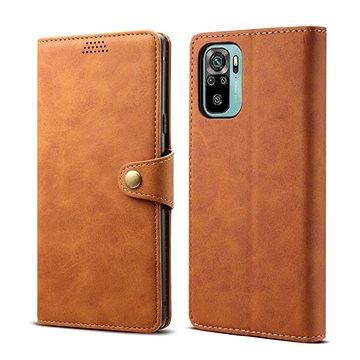 Lenuo Leather pro Xiaomi Redmi Note 10, hnědé (348005)