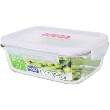 Lock&Lock Dóza na potraviny Lock, sklo/plast, obdélník, 1l (LLG445)