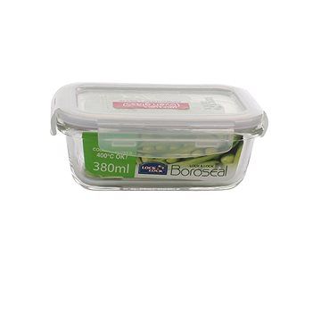 Lock&Lock Dóza na potraviny Lock, sklo/plast, obdélník, 380ml (LLG422)