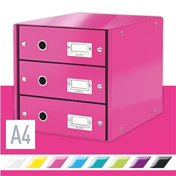 Leitz Click & Store WOW, 3dílný, růžový (60480023)