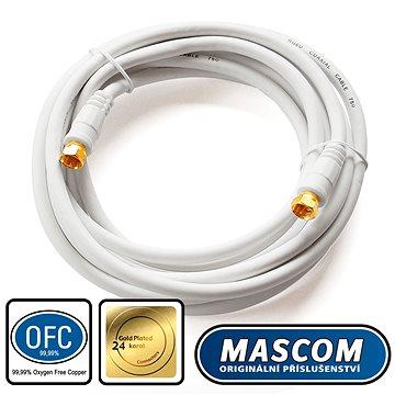 Mascom satelitní kabel 7676-030W, konektory F 3m (M17e)