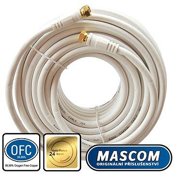 Mascom satelitní kabel 7676-150W, konektory F 15m (M17g)