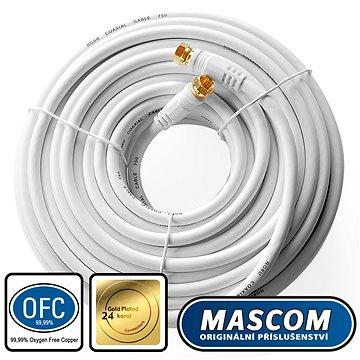 Mascom satelitní kabel 7676-200W, konektory F 20m (M17h)