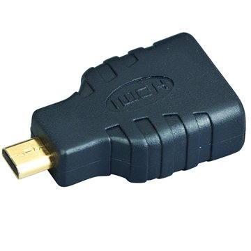 Gembird HDMI A(F) --> micro HDMI(M), zlacené konektory (A-HDMI-FD)