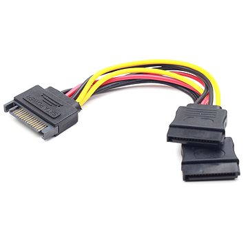 Gembird Cableexpert SATA napájecí na 2x SATA, rozdvojka, 0.15m (CC-SATAM2F-01)