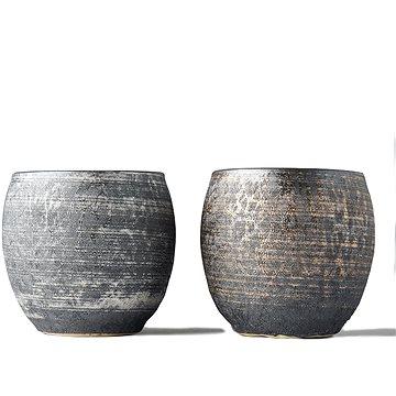 Made In Japan Set hrnků na saké Sho-chu stříbrá a bronzová 2 ks (C5466)