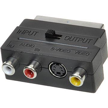OEM scart - 3x cinch + S-video, přepínatelné IN/OUT (11924410)