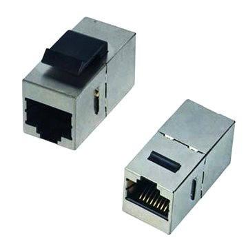 Datacom Panelová spojka STP CAT5e 2xRJ45 (8p8c) přímá (4242)