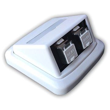 Datacom ABB Tango Datová zásuvka STP CAT6A 2xRJ45 Skey bílá (2395)