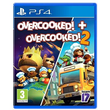 Overcooked! + Overcooked! 2 - Double Pack - PS4 (5056208805843)