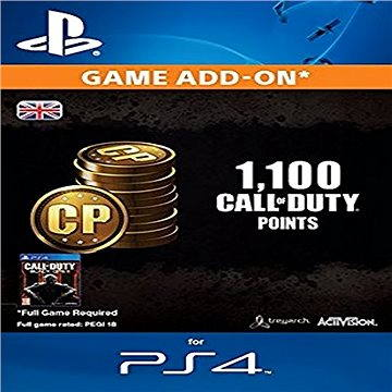1.000 (+100 Bonus) Call of Duty Points - PS4 CZ Digital