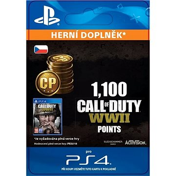1,100 Call of Duty: WWII Points - PS4 CZ Digital