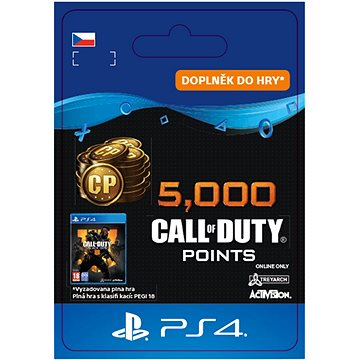 5,000 Call of Duty: Black Ops 4 Points - PS4 CZ Digital (SCEE-XX-S0042050)