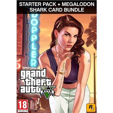 Grand Theft Auto V (GTA 5) + Criminal Enterprise Starter Pack + Megalodon Shark Card (PC) DIGITAL (406461)
