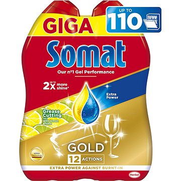 SOMAT All in One Gel Lemon 2× 990 ml (110 dávek) (9000101346411)