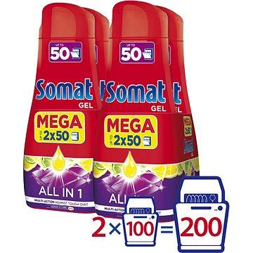 SOMAT All in One Lemon 4 × 900 ml (200 dávek) (9000101358971)