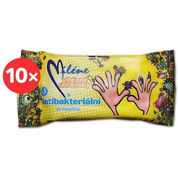 MILÉNE antibakteriální vlhčené ubrousky 10× 15 ks