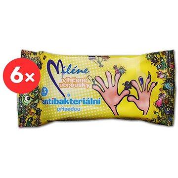 MILÉNE antibakteriální vlhčené ubrousky 6× 15 ks
