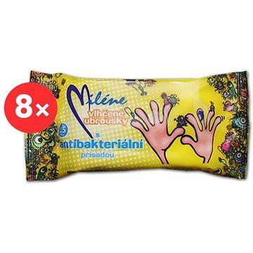 MILÉNE antibakteriální vlhčené ubrousky 8× 15 ks