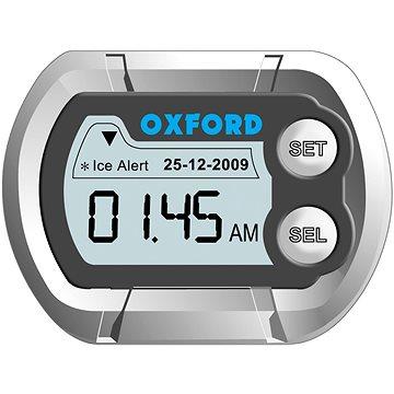 OXFORD hodiny a teploměr na motocykl voděodolné, (stříbrná) (M007-05)