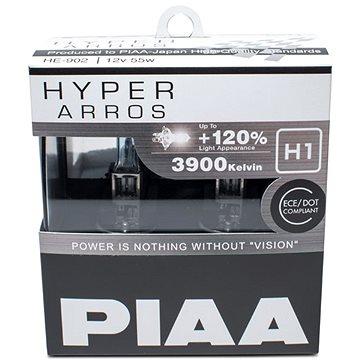 PIAA Hyper Arros 3900K H1 - o 120 procent vyšší svítivost, zvýšený jas (HE-902)
